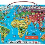 Otroški magnetni zemljevid sveta